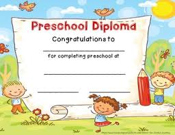 preschool graduation certificate preschool diploma graduation certificate preschool end of year