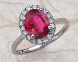 ruby and engagement rings ruby engagement ring etsy