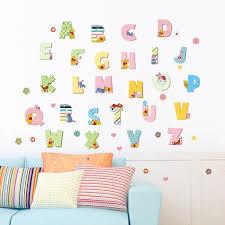 stikers chambre bebe stickers chambre bébé éducatifs avec l alpgabet fond