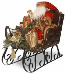 Terrific Christmas Decoration Sleigh Impressive 30 Santa