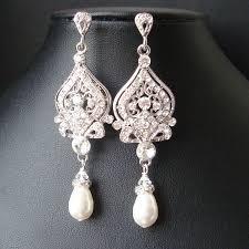 vintage wedding jewelry vintage bridal earrings chandelier wedding earrings deco