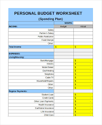 Personal Budget Spreadsheet Template Free Personal Budget Template 9 Free Excel Pdf Documents