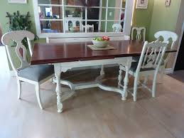 White Distressed Dining Table Rustic Painted Dining Tables