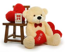 big valentines day teddy bears teddy 38in brownie cuddles valentines day w be mine
