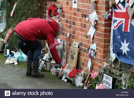 goring george michael tributes are left at the home of singer george michael in stock