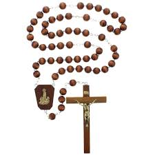 wall rosary wood bead our of fatima wall rosary the catholic company