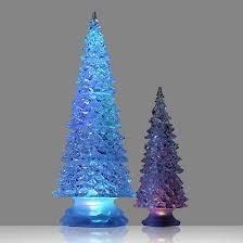 set of 2 led colour change tree ornaments qvc uk