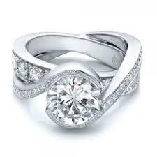 interlocking engagement ring wedding band seattle diamond rings wedding promise diamond engagement