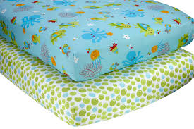 Crib Mattress Dog Bed by Amazon Com Nojo Little Bedding 2 Count Crib Sheet Set Ocean