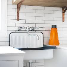 Sink For Laundry Room Black And White Industrial Laundry Room Sink Transitional