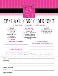 cake order cake order form template ninocrudele invoice templates