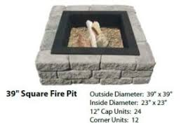 Square Fire Pit Kit by Fire Pits Mutual Materials