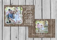 chalkboardard theme christmas card be merry double sided card