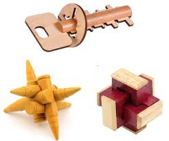 3pcs set classic 3d wooden burr puzzle mind challenge wood puzzles