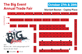 the big event trade show booth space reservation and floor plan