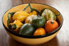 bowl of ornamental gourds stock photo image of wood 28097464