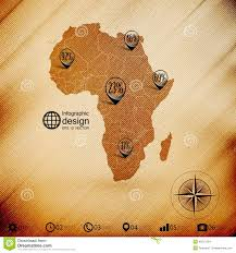 Wooden Design Africa Map Wooden Design Background Vector Stock Vector Image