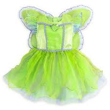Halloween Costume Wings Disney Store Tinkerbell Fairy Princess Deluxe Dress Baby Costume
