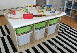 an ikea hack train u0026 activity table the crazy craft lady