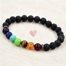 color bead bracelet images 2018 8mm muti color beads lava 7 chakra bracelet healing balance jpg
