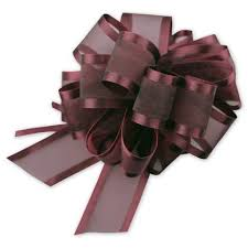pull bows gift wrap bows burgundy sheer satin edge pull bow pr815 10 by