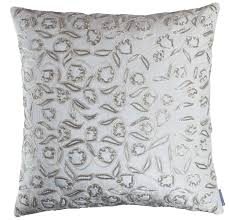 24x24 Decorative Pillows Lili Alessandra Ellie Accents With Silver Beads Decorative Pillows