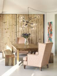 Bamboo Ideas For Decorating by Fascinating Dining Room Themed With Bamboo Wall Paneles And