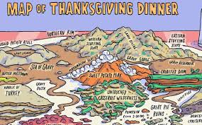 map of thanksgiving dinner neatorama