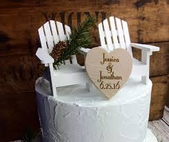 chair cake topper items similar to adirondack chair wedding cake topper adirondack
