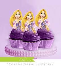 tangled cake topper rapunzel cupcake toppers princess rapunzel disney princess