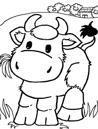 cow coloring pages eating grass animal coloring pages of