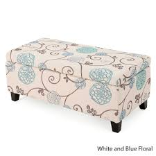 breanna floral fabric storage ottoman by christopher knight home breanna floral fabric storage ottoman by christopher knight home