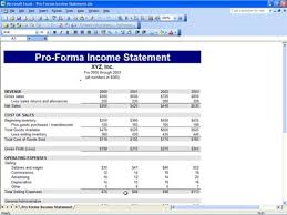 Profit And Loss Statement Template Excel Proforma Income Statement Template 8 Income Statement