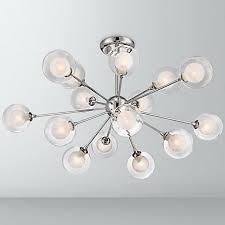 Glass Orb Ceiling Light Possini Design Glass Sphere 15 Light Ceiling Light