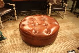 round leather tufted ottoman bupamalaysia com wp content uploads 1292 brown lea