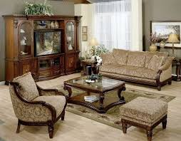 Leather And Fabric Living Room Sets Green Wall Paint Color Place Side Traditional Living Room