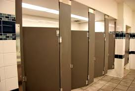 Bathroom Stall Pics Commercial Toilet Partition Bathroom Stall Installation In
