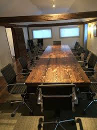 Industrial Boardroom Table Metal Conference Table Annie U0027s Live Edge Conference Room