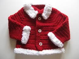 crochet baby sweater jacket cardigan coat christmas santa