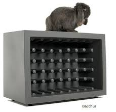 bacchus wine rack and chubby chair by marcel wanders