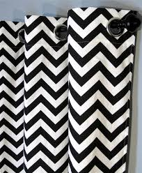 Chevron Panel Curtains 96 Black And White Zig Zag Curtains With Grommets Two