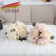 silk flowers for wedding aliexpress buy silk flowers 1 bouquet peony