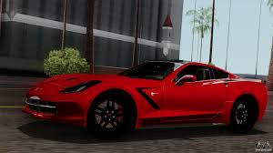 corvette stingray interior chevrolet corvette c7 stingray 1 0 1 for gta san andreas