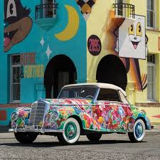 mercedes vintage bright ideas a vintage mercedes 220a with artwork by hiro