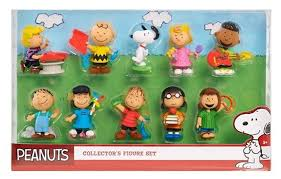 snoopy peanuts characters just play peanuts collector figures 10 pack toys