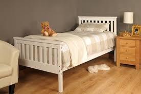 sleep tight single bed white wooden frame 3ft x 6ft modern single