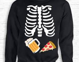 Pregnancy Halloween Costumes Skeleton Couples Costume Skeleton Baby Beer Xray Halloween Shirt