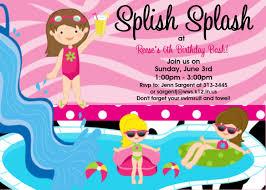 pool party birthday invitations blueklip com