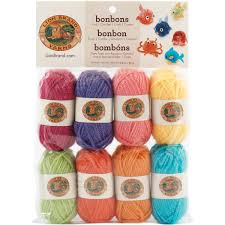 amazon com lion brand yarn 601 680 bonbons yarn crayons