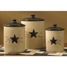 Primitive Kitchen Canisters Park Designs Star Vine Collection Star Vine Canisters S 3